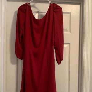 Crimson mid length dress